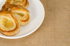 Pasteles del danés de la piña Fotografía de archivo