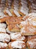 Pasteles del italiano de Maritozzi Foto de archivo