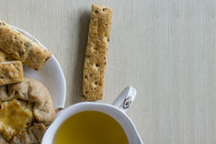 Pasteles del té verde de la comida sana, galletas Imagenes de archivo