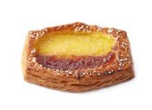 Pasteles dulces del bollo del pan aislados Foto de archivo libre de regalías