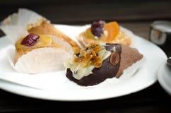 Pasteles en un café en Munich Foto de archivo
