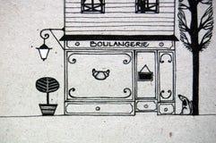 Pasteles franceses lindos stock de ilustración