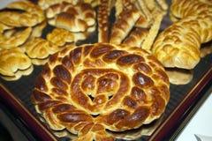 Pasteles hechos en casa Fotos de archivo libres de regalías