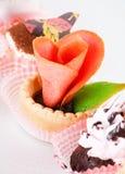 Pasteles sabrosos Foto de archivo libre de regalías