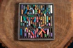 Pasteles suaves para los artistas y el papel de dibujo imágenes de archivo libres de regalías