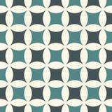 Pastelkleur abstracte achtergrond met overlappende cirkels Bloemblaadjesmotief Naadloos patroon met klassiek geometrisch ornament stock illustratie