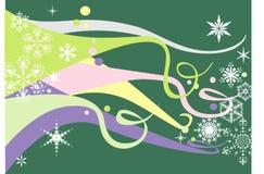 Pastelkleur & Sneeuwvlokken Stock Afbeelding