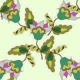 Pastelkleur bloemen naadloos patroon Royalty-vrije Stock Afbeeldingen