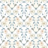 Pastelkleur bloemen naadloos patroon in uitstekende stijl Stock Foto's
