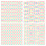 Pastelkleur Diamond Shape Seamless Patterns Royalty-vrije Stock Afbeelding