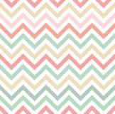 Pastelkleur gekleurd chevronpatroon Stock Afbeelding