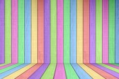 Pastelkleur Gekleurd Houten van de Omheining Element Als achtergrond Royalty-vrije Stock Afbeeldingen