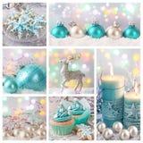 Pastelkleur gekleurde Kerstmis Royalty-vrije Stock Foto's