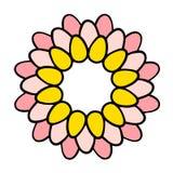 Pastelkleur gekleurde kroon met eieren voor de getrokken illustratie van Pasen hand royalty-vrije illustratie