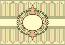 Pastelkleur Gekleurde uitstekende uitnodiging stock illustratie
