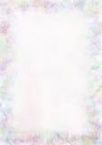 Pastelkleur getrokken geweven achtergrond Verfrommeld document in blauwe kleuren Spatie voor brief of groetkaart A4 grootteformaa stock illustratie