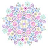 Pastelkleur grote bloem Stock Fotografie