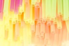 Pastelkleur het drinken stro Stock Afbeeldingen