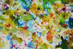Pastelkleur kleurrijke levendige tinten, de creatieve achtergrond van de wasverf Stock Afbeeldingen