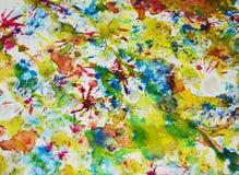 Pastelkleur kleurrijke vage tinten, de wasachtige creatieve achtergrond van de pastelkleurverf Royalty-vrije Stock Fotografie
