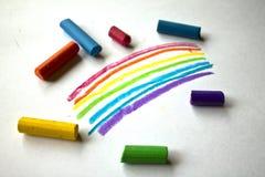 Pastelkleur op papier Royalty-vrije Stock Afbeeldingen