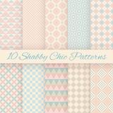 Pastelkleur retro verschillende vector naadloze patronen vector illustratie