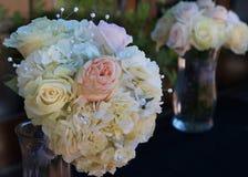 Pastelkleur Rose Bridal Bouquets Royalty-vrije Stock Afbeelding