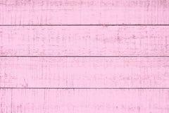 Pastelkleur roze houten achtergronden Grunge, planken Stock Foto's
