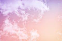 Pastelkleur Roze & Purpere Wolken Royalty-vrije Stock Foto