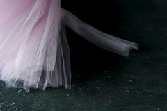 Pastelkleur roze tutu stock afbeeldingen