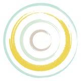 Pastelkleur Twee van de cirkelsborstel Stock Afbeeldingen