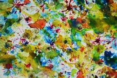 Pastelkleur vage tinten, de wasachtige creatieve achtergrond van de pastelkleurverf Stock Afbeelding