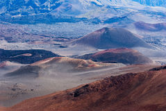 Pastelkleur Vulkanische Cindercones Royalty-vrije Stock Afbeelding