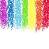 Pastelkleurkleurpotlood geschilderde regenboog, beeld stock illustratie