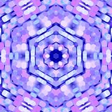 Pastelkleurpinnen in een radiaal patroon royalty-vrije illustratie