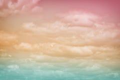 Pastelkleurspectrum van Wolken 2 Stock Foto
