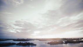 Pastelkleurwolken in een Avondblootstelling Stock Afbeeldingen