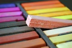 Pastell aus dem Kasten heraus lizenzfreie stockfotos