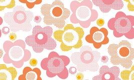Pastell behandla som ett barn den blom- sömlösa modellen för stil stock illustrationer