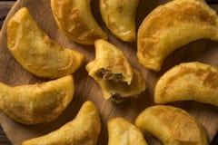 Pastell-/brasilianisches Lebensmittel Pastells/Mais Angu/tradicional Lebensmittel lizenzfreie stockfotos