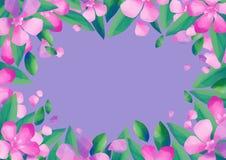 Pastell färgad design med oleanderblommor royaltyfri illustrationer