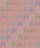 Pastell färgad tapet för stoltexturbakgrund som är tileable, på rosa bakgrund, möblemangbegreppsidé, inre vektor illustrationer