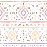 Pastell färgade den rosa geometriska aztecen åldrades etniska sömlösa modellen för grunge, vektor vektor illustrationer