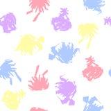 Pastell färgade fläckar på vit bakgrund Royaltyfria Foton