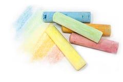 Pastell färgade kritapinnar Royaltyfri Foto