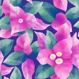 Pastell färgade modellen av exotiska sidor och blommor vektor illustrationer