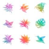 pastell för designelementnatur vektor illustrationer