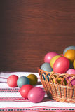 Pastell farbige Ostereier Stockfoto