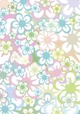 Pastell floral background Royalty Free Stock Images