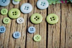 Pastell färgade knappar Fotografering för Bildbyråer